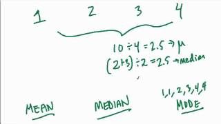 CLEP College Math - Mean and Median