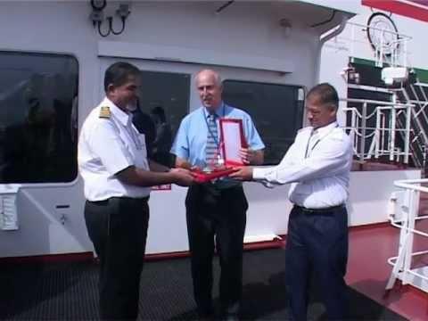 United Arab Shipping Vessel - Hatta arrival at Port of Khaor Fakkan Port of the United Arab Emirates