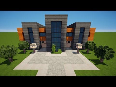 MINECRAFT MODERNES HAUS Bauen TUTORIAL HAUS - Minecraft haus bauen lernen