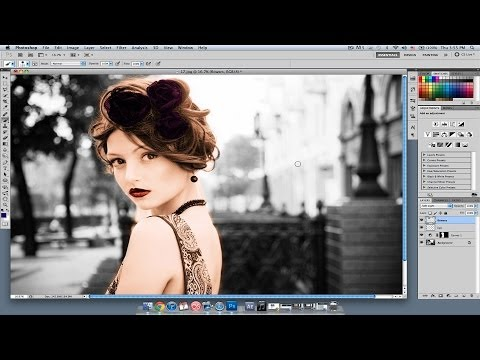 How to Add Color to Details Photoshop Lessons