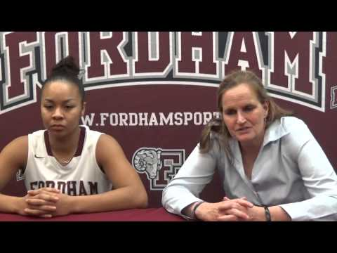 Fordham Women's Basketball vs. Massachusetts Highlights - January 21, 2015