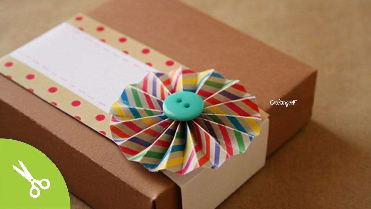 Caja de pizza para regalo original pizza box diy youtube - Cajas para manualidades ...