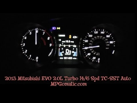 2013 Mitsubishi EVO MR 0-60 MPH