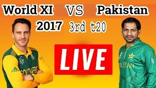 Live Pakistan Vs World XI 2nd T20 15/9/2017 | PTV Sports Live