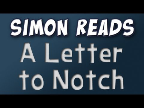 Minecraft - Simon reads an e-mail sent to Notch Music Videos