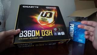 Intel Pentium GOLD G5400 + Gigabyte B360M D3H unboxing
