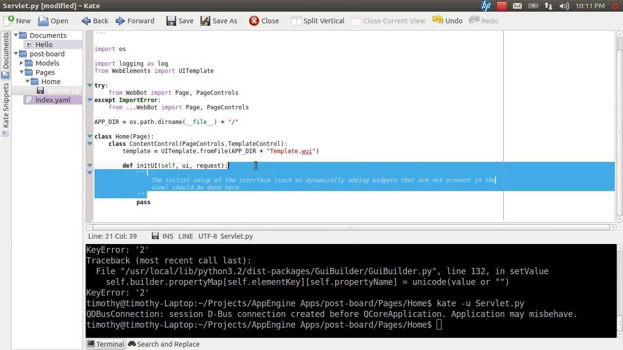 Creating website using python