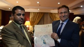 بالفيديو وكالة أنباء الشرق الأوسط  تكرم رئيس حزب القمة الليبي