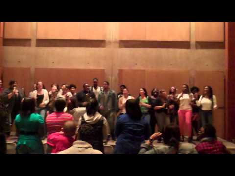 Wcu '09-10 Gospel Choir: He Reigns Over All The Earth- Cafe 117 Reunion 2012 video