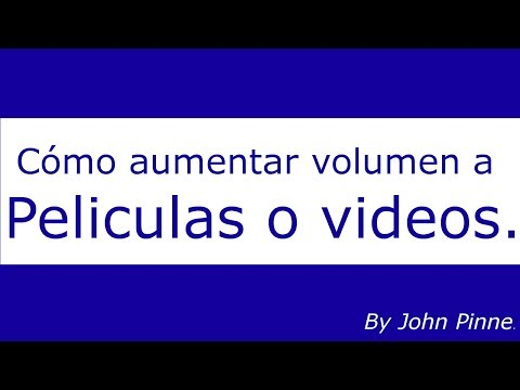 Aumentar audio a peliculas o videos con Media Player Classic