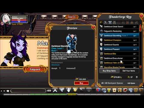 AQW Getting Darkblood StormKing Class!