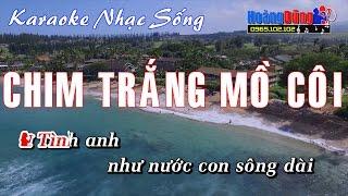 Karaoke Nhạc Sống - Chim Trắng Mồ Côi - Beat chất lượng cao