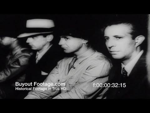 HD Stock Footage WWII - Nazi Spies on Trial, FBI, J. Edgar Hoover