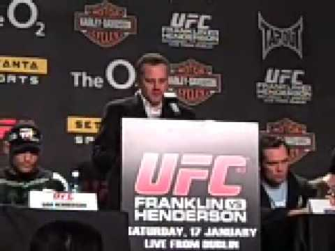 Mark Coleman Press Conference UFC 93 Video