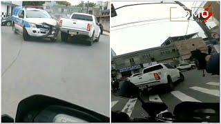 PERSEGUIÇÃO, COLISÃO E TIROS!  Fuga da GM com Hilux roubada.