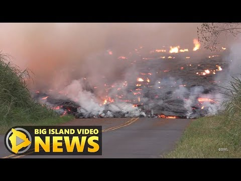 Fast Lava Flow: Emergency Evacuation In Leilani (May 27, 2018)