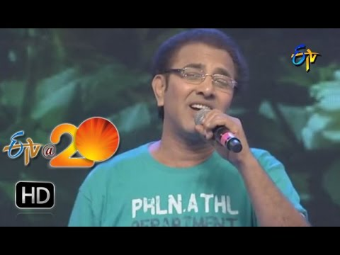 Vandemataram Srinivas Performance  - Nee Padammeeda PuttuMachanai Song  in  Khammam ETV @ 20