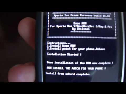 Instalando uma nova rom Xperia Neo Neo V / Install new rom xperia neo neo V