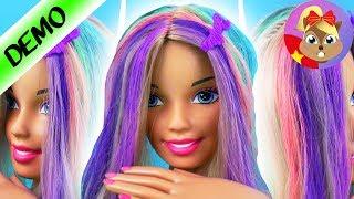 Video tiếng Đức tạo mẫu tóc Barbie | Tóc cầu vồng | Video tiếng Đức nhuộm tóc sặc sỡ | Búp bê Barbie