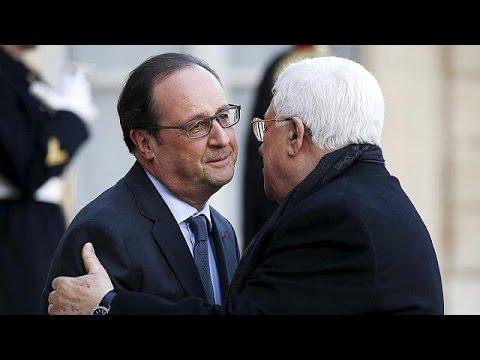 François Hollande recebeu em Paris Mahmoud Abbas