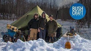 Sub Zero Winter Camping IN A HOT TENT in Canada!