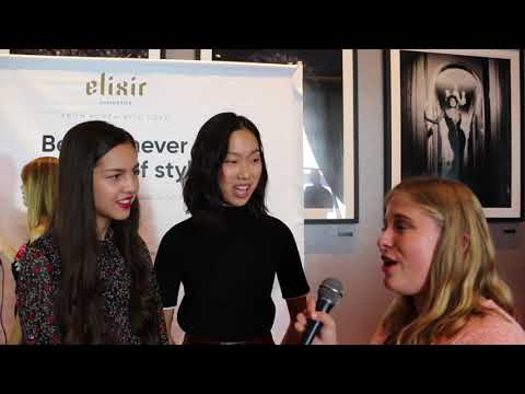Bizaardvark's Olivia Rodrigo and Madison Hu Interview at Celebrity Connected AMA Gifting Suite
