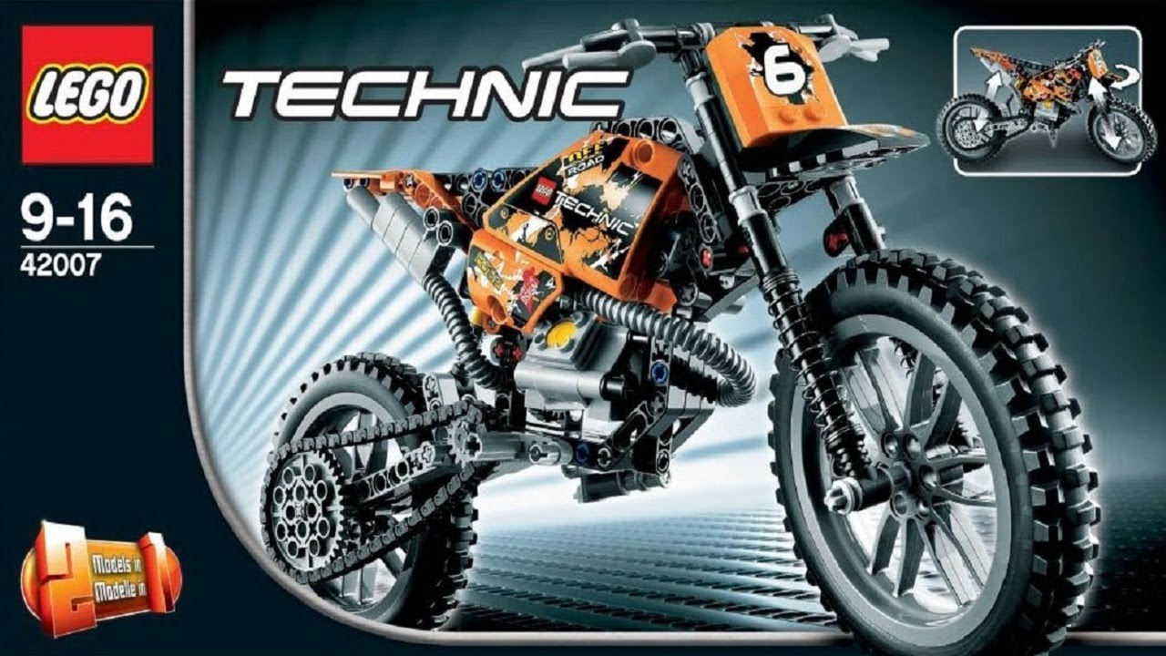 lego technic instructions for 42007 moto cross bike youtube. Black Bedroom Furniture Sets. Home Design Ideas