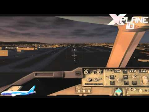 X-Plane 10 - Landing in Los Angeles with B747-400 AIRFRANCE