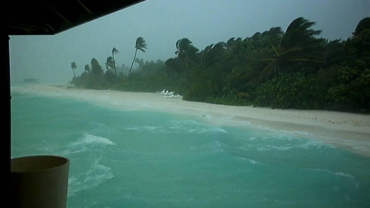 Meeru Island Resort Maldives Weather Storm Youtube