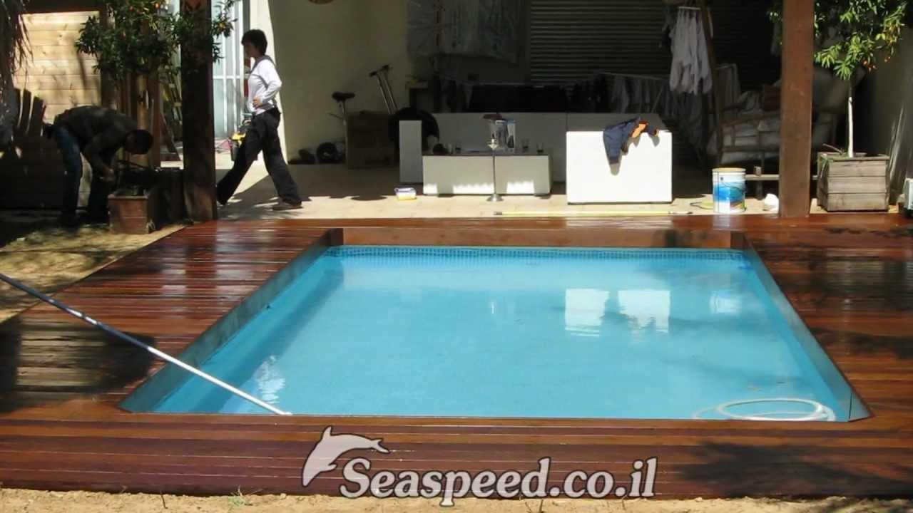 בריכת שחייה Intex Ultra Frame 732x366x132 בנתניה Youtube