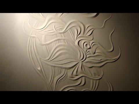 Мастер класс #Барельеф цветка из гипсовой шпаклёвки своими руками