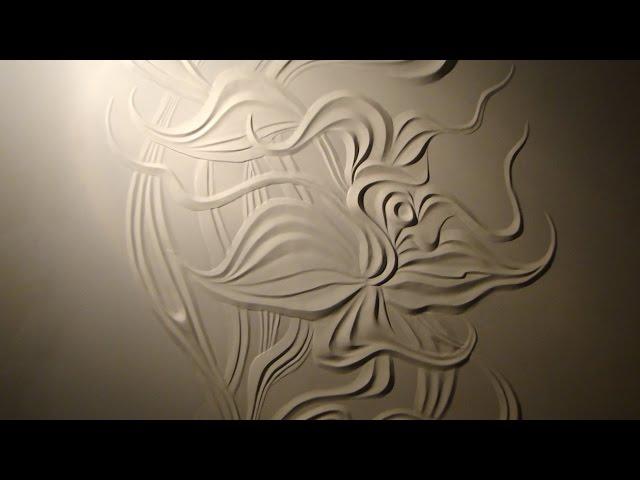 Мастер класс барельеф цветка из гипсовой шпаклевки своими руками 48