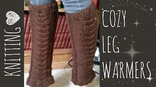 Cozy Cable Leg Warmers | Knit Pattern | Knitting Accessories Tutorial