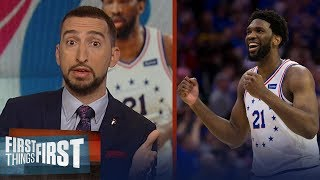 Joel Embiid dominates in Sixers GM 3 win over Raptors - Nick & Cris react | NBA | FIRST THINGS FIRST