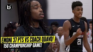 Emoni Bates Drops 37 Points vs QUAVO Huncho & His AAU Team in CHAMPIONSHIP GAME! He's ONLY 15!