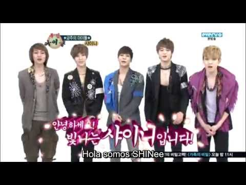 [español] Shinee - Ep 41 Parte 1 3 weekly Idol Ranking video