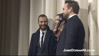 Jamie Dornan, Dakota, Erika on stage (Darker Premiere, Hamburg 7.02.17)