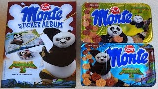 2016 Kung Fu Panda 3 Movie Monte Surprise Dessert Album & 3D Sticker Sorpresa