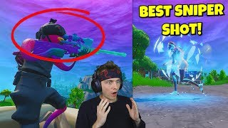 THIS is my BEST sniper shot i've ever hit on fortnite... (very epic)