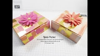 Glue Free Origami Style Box - Painted With Love DSP from Stampin' Up!