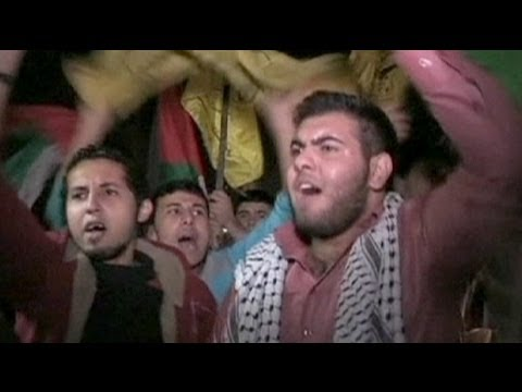 Celebrations in Gaza City as ceasefire with Israel begins - no comment