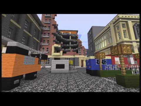 Minecraft XCLG Modern Warfare 3 map Downturn