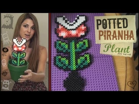 DIY: Potted Perler Bead Plant ((Mario Piranha))