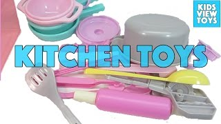 Kitchen Toys for Children Kids Kitchen Play Set Video
