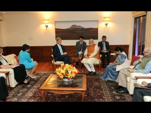 PM Modi, John Kerry meet ends