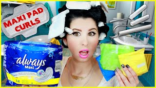 Maxi Pad Curls: Curl Your Hair With Maxi Pads!