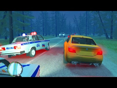 GTA 4 РОССИЯ РП - ПЬЯНЫЙ ЗА РУЛЕМ ОТ ПОГОНИ НА BMW M5
