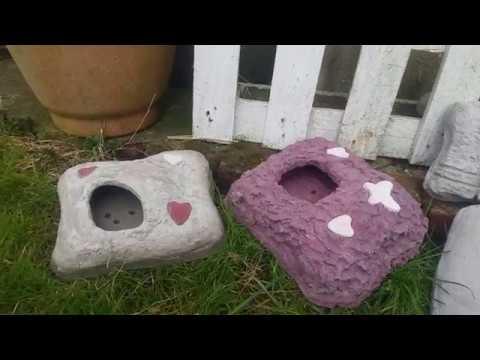 Gartendeko Pflanz Kissen aus Beton selber machen