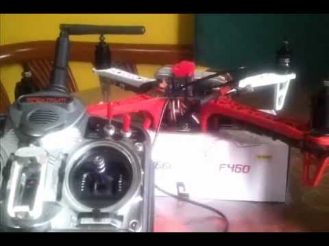 DJI Naza Setup F450 Flame Wheel step by step and Transmitter Setup