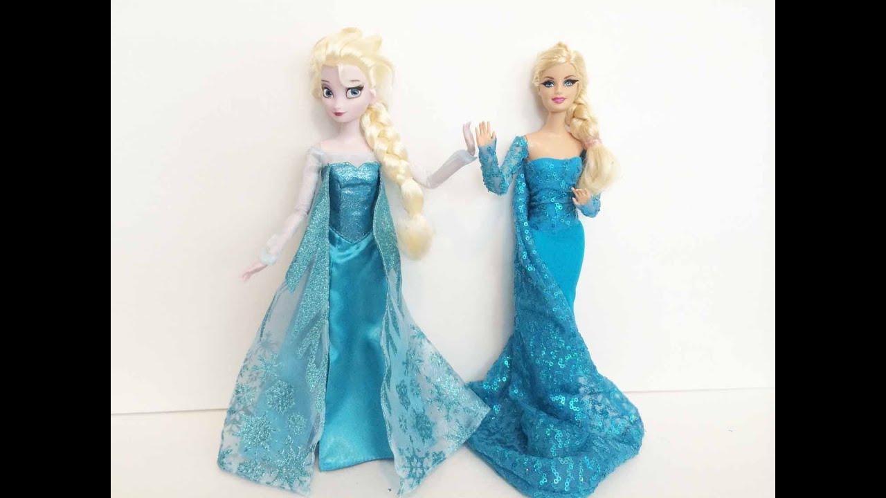 elsa barbie video